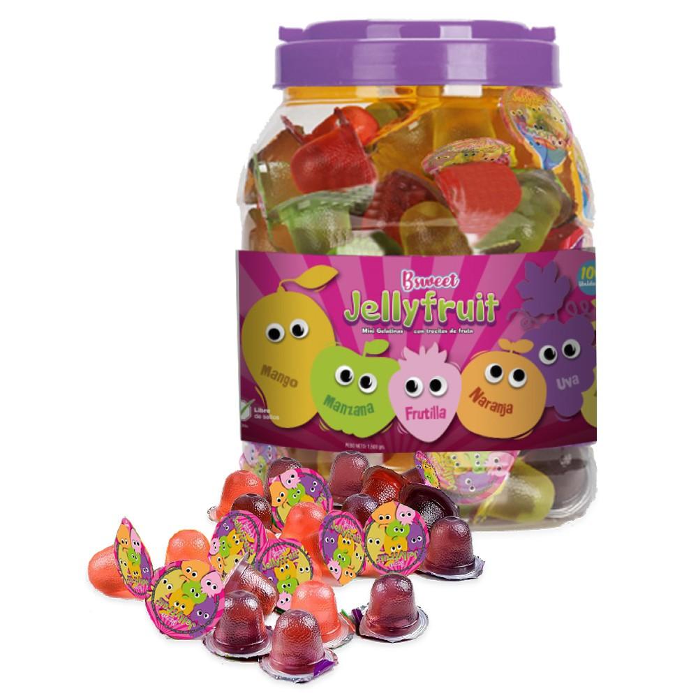 Mini gelatinas con fruta