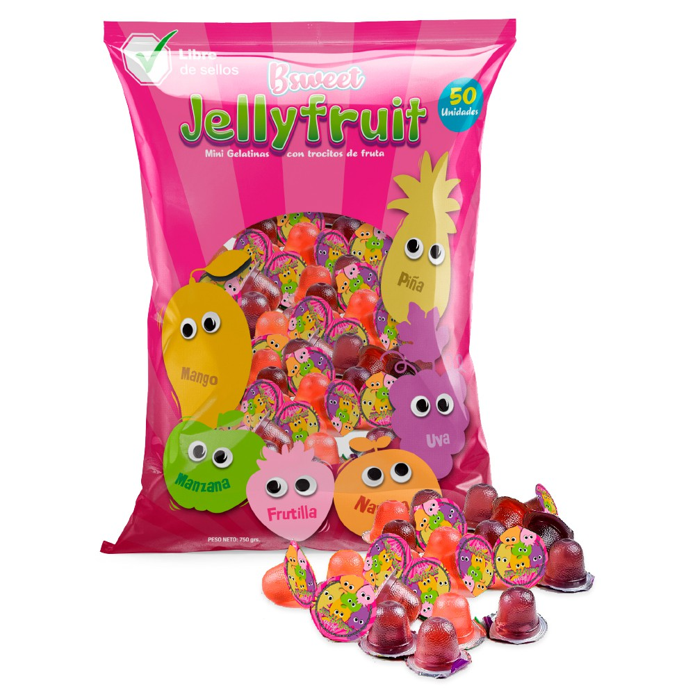 Bolsa mini gelatinas con fruta