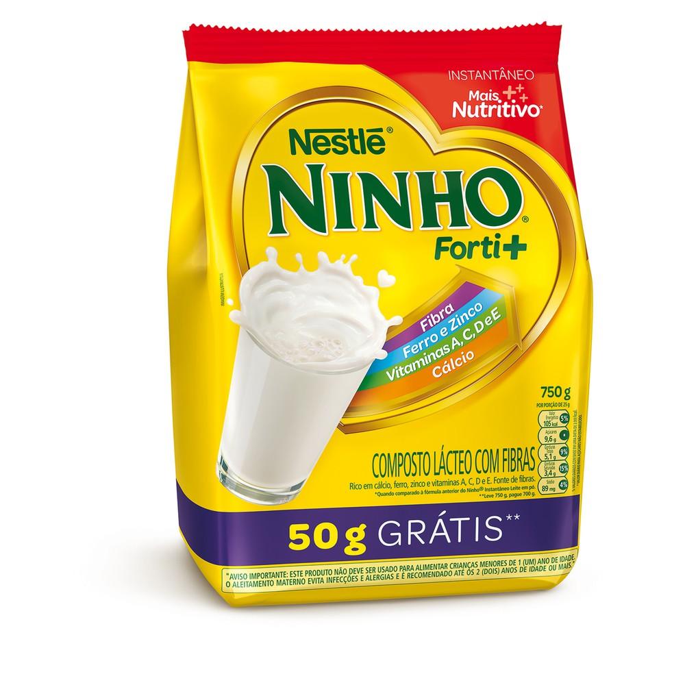 Composto lácteo com fibras Ninho Forti+