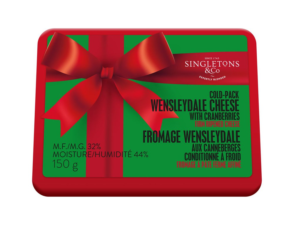 Wensleydale cheese with cranberries cold pack
