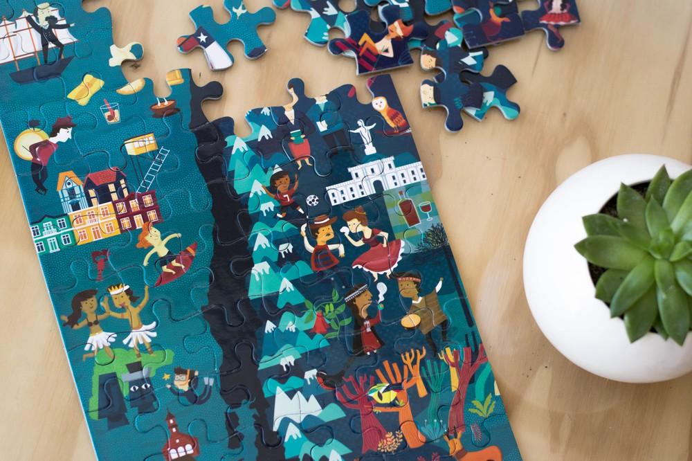 Puzzle de chile ilustrado