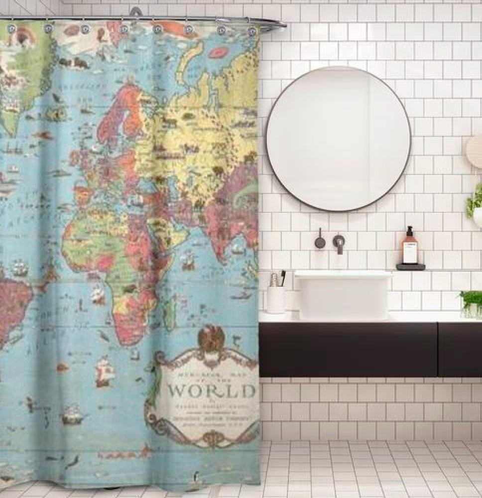 Cortina de baño mapa del mundo 1931