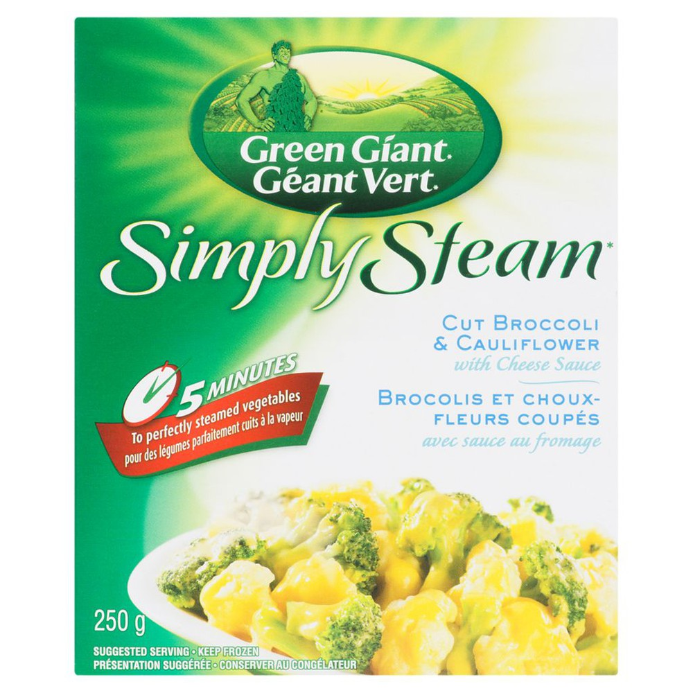 Simply Steam Cut Broccoli & Cauliflower with Cheese Sauce