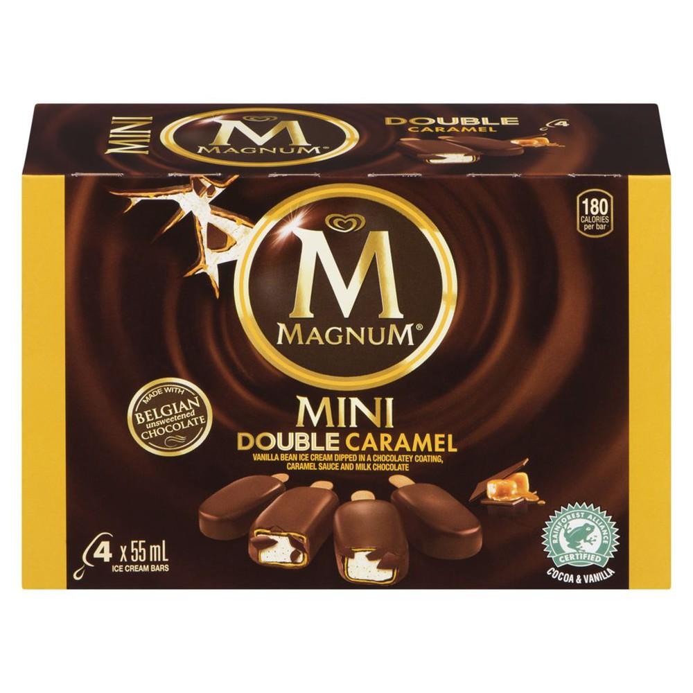 Mini double caramel ice cream bar