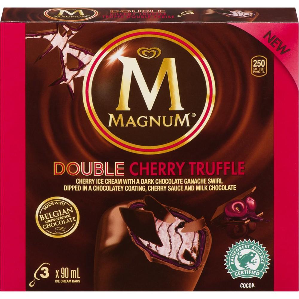 Double cherry truffle ice cream bars