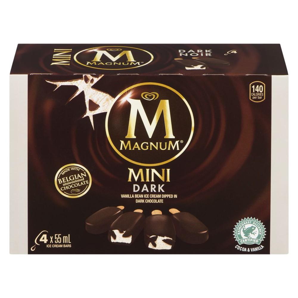 Mini ice cream bars dark cocoa 60%