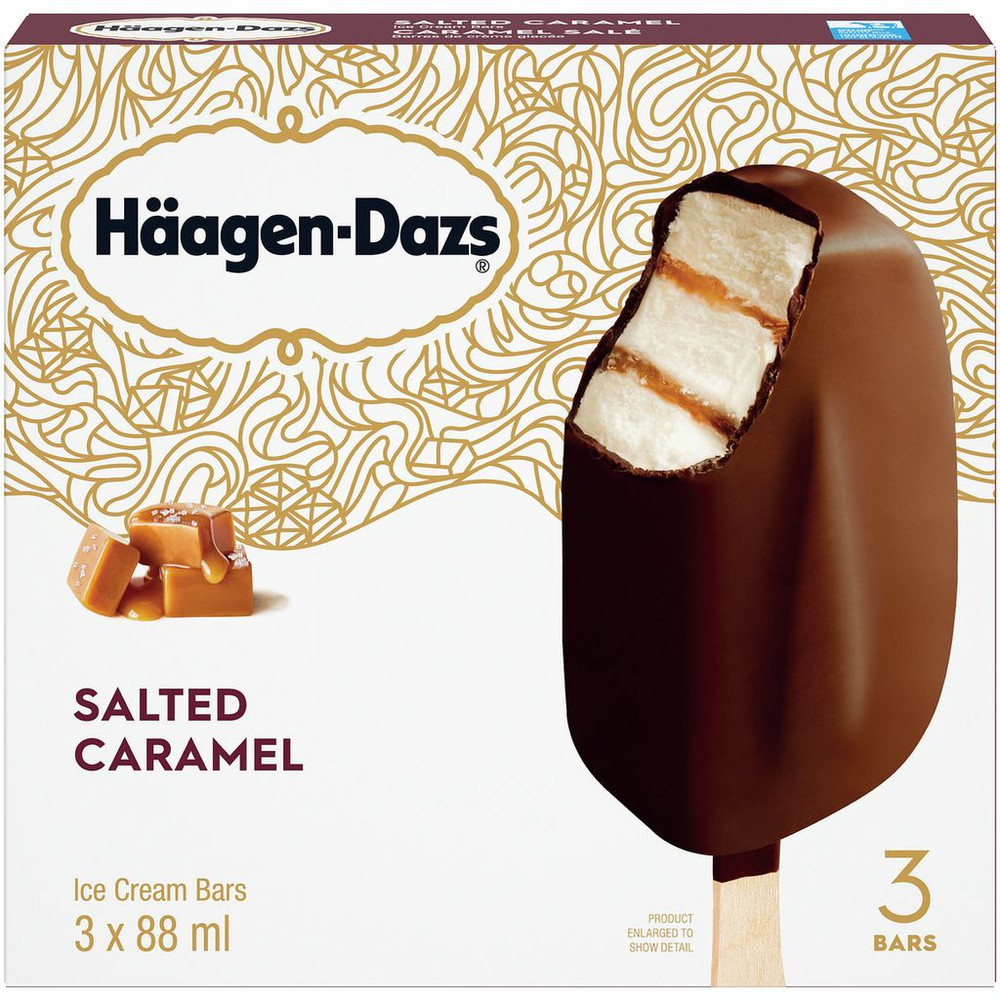 Salted Caramel Ice Cream Bars
