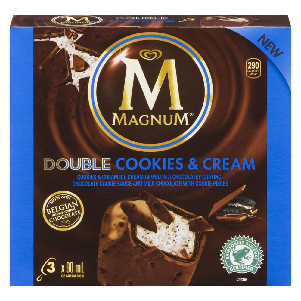 Double ice cream bar cookies & cream