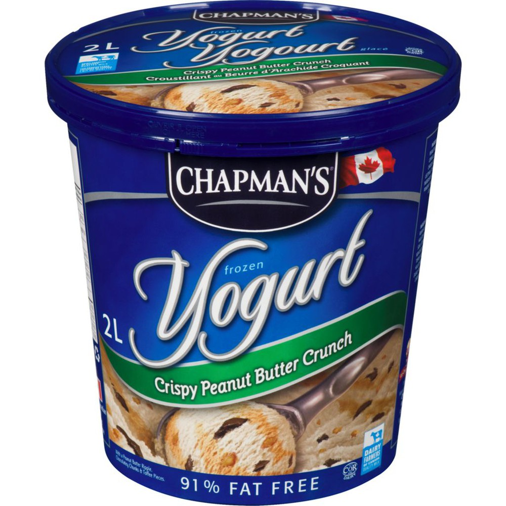 Frozen Yogurt, Crispy Peanut Butter Crunch