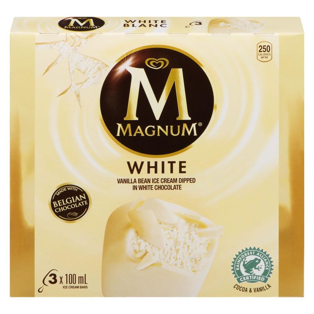 White vanilla ice cream bar