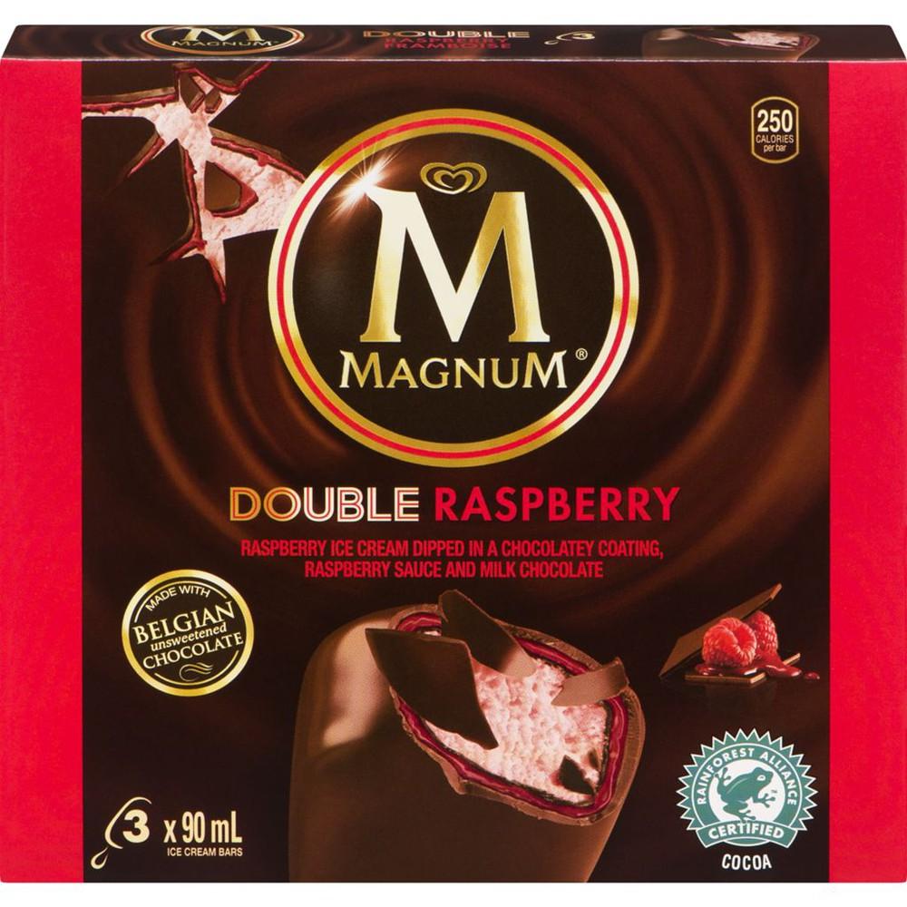 Double raspberry ice cream bar