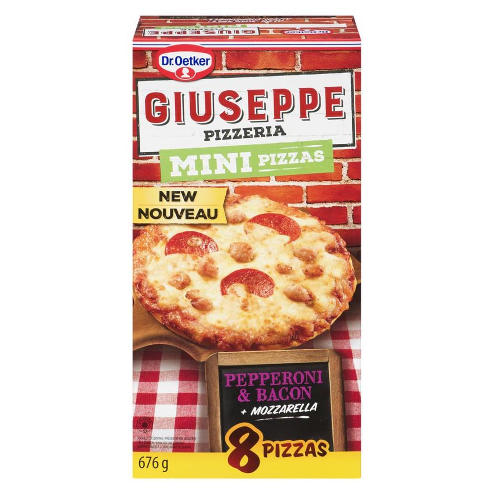 Giuseppe Pizzeria 8 Mini Pizzas Pepperoni & Bacon + Mozzarella