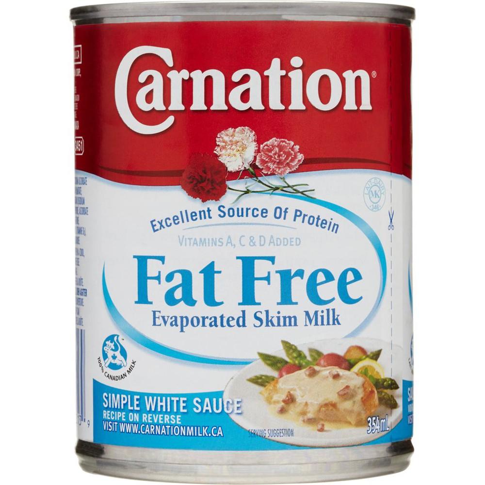 Fat free evaporated skim milk