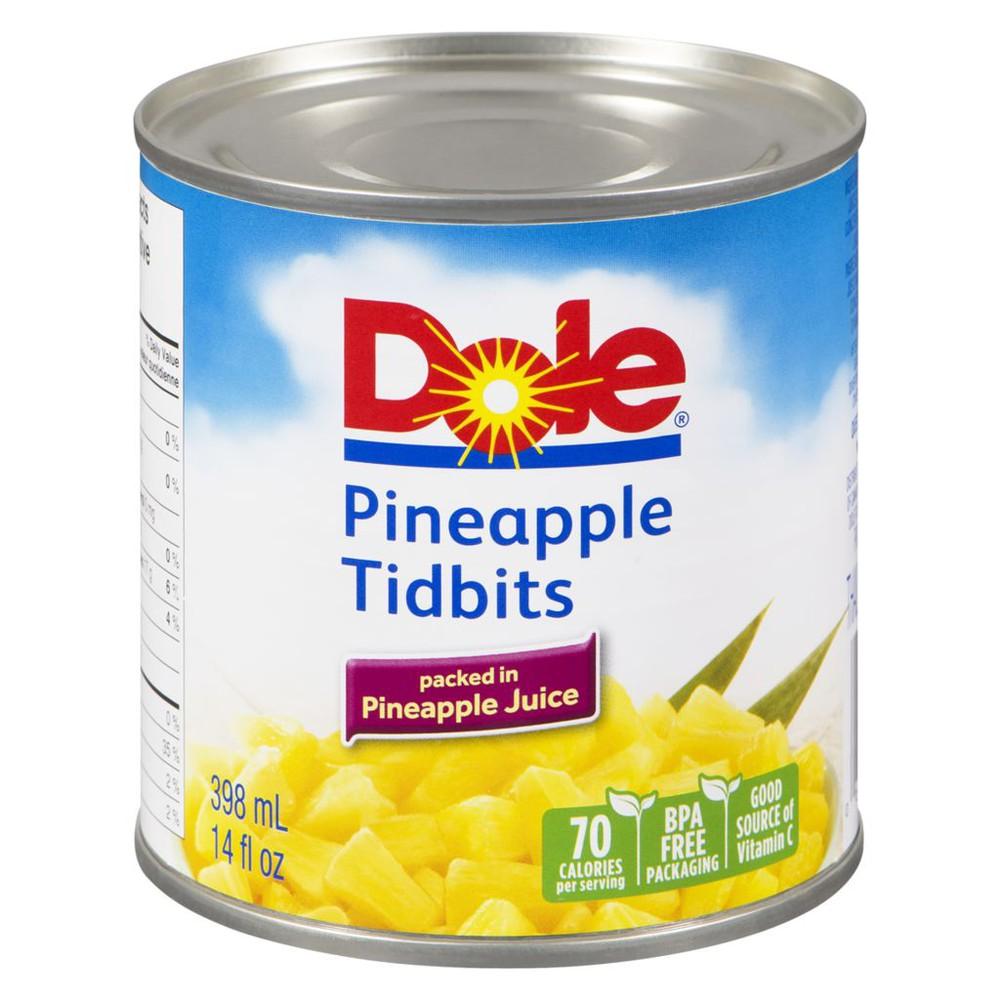 Pineapple tidbits in pineapple juice 398 mL