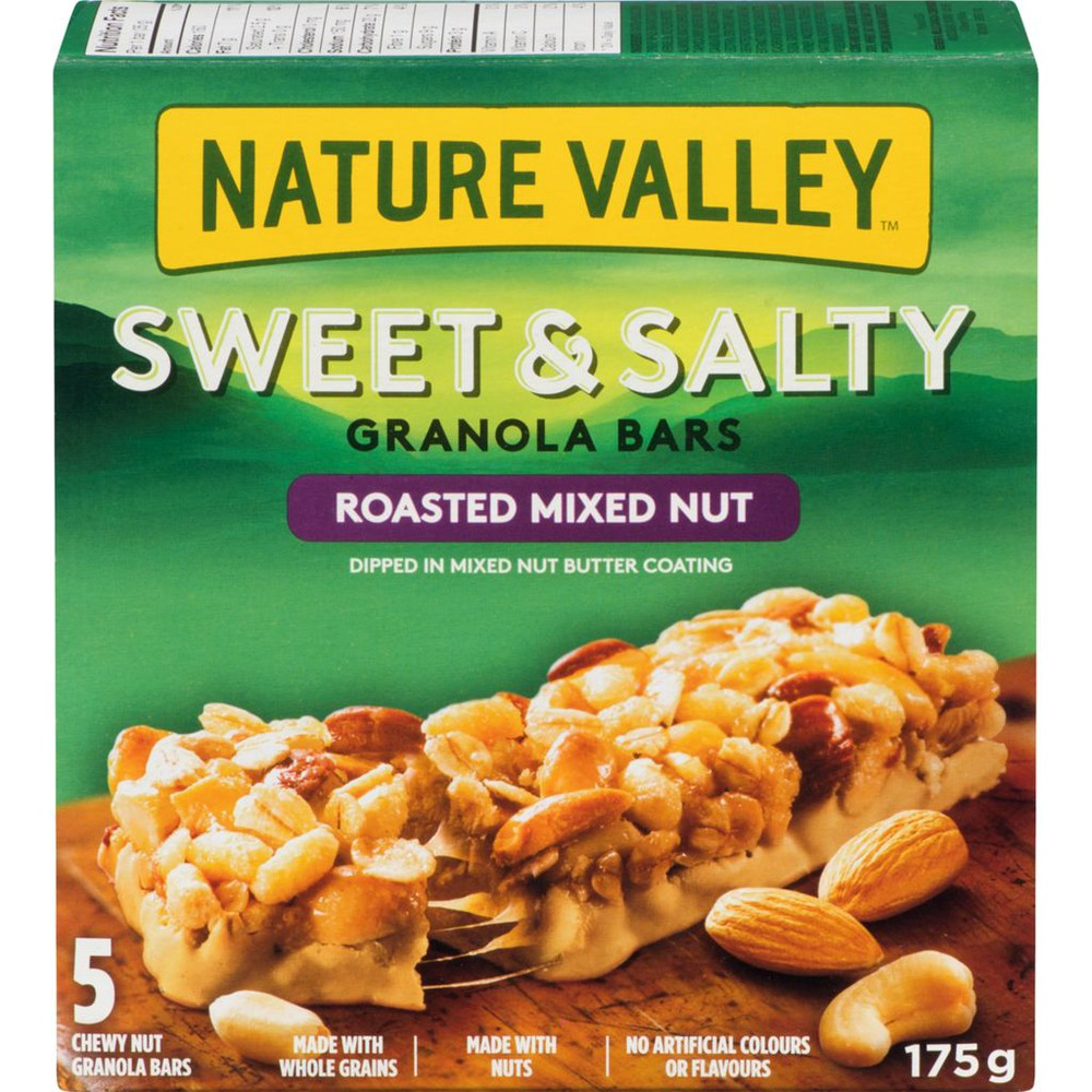 Sweet & salty chewy nut bars roasted mixed nut