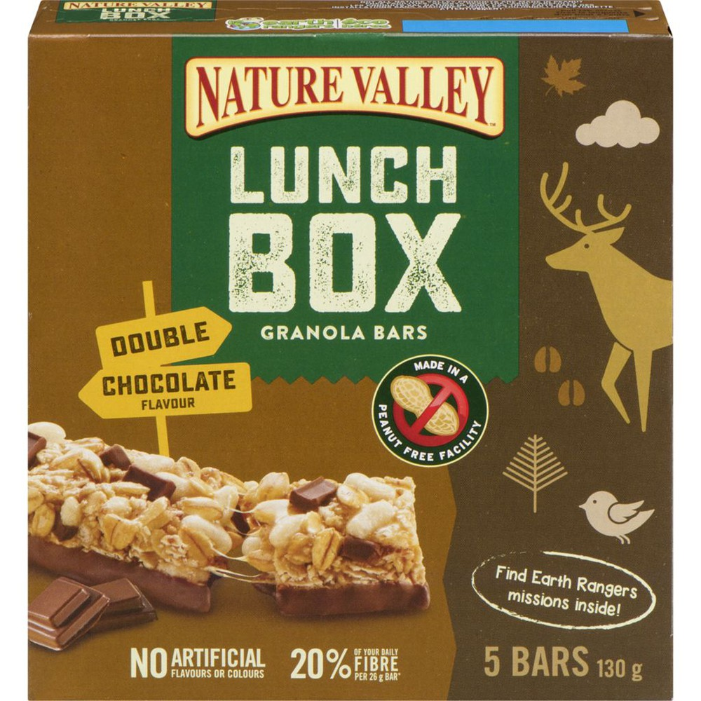 Double chocolate lunch box granola bar