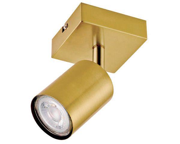 Foco sobrepuesto 1 luz silo bronce pulido gu10
