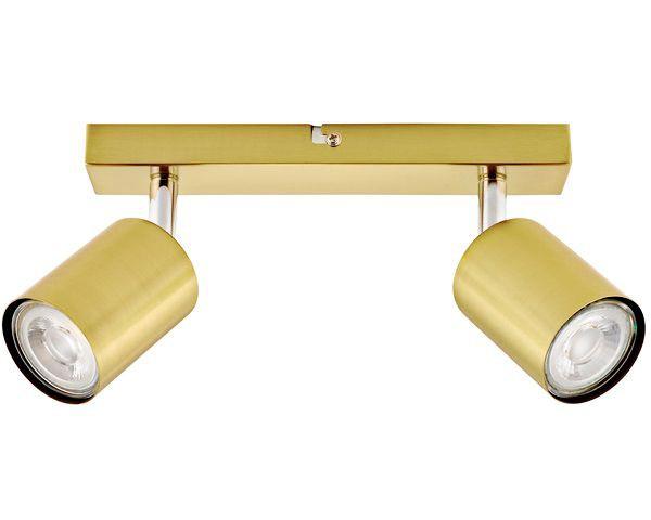 Barra 2 luces silo bronce pulido gu10