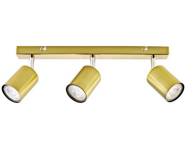Barra 3 luces silo bronce pulido gu10
