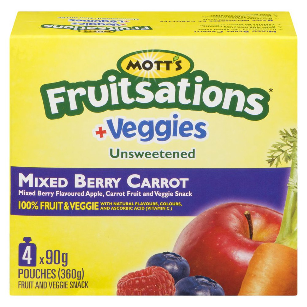 Fruitsations + Veggies, Unsweetened Mixed Berry Carrot