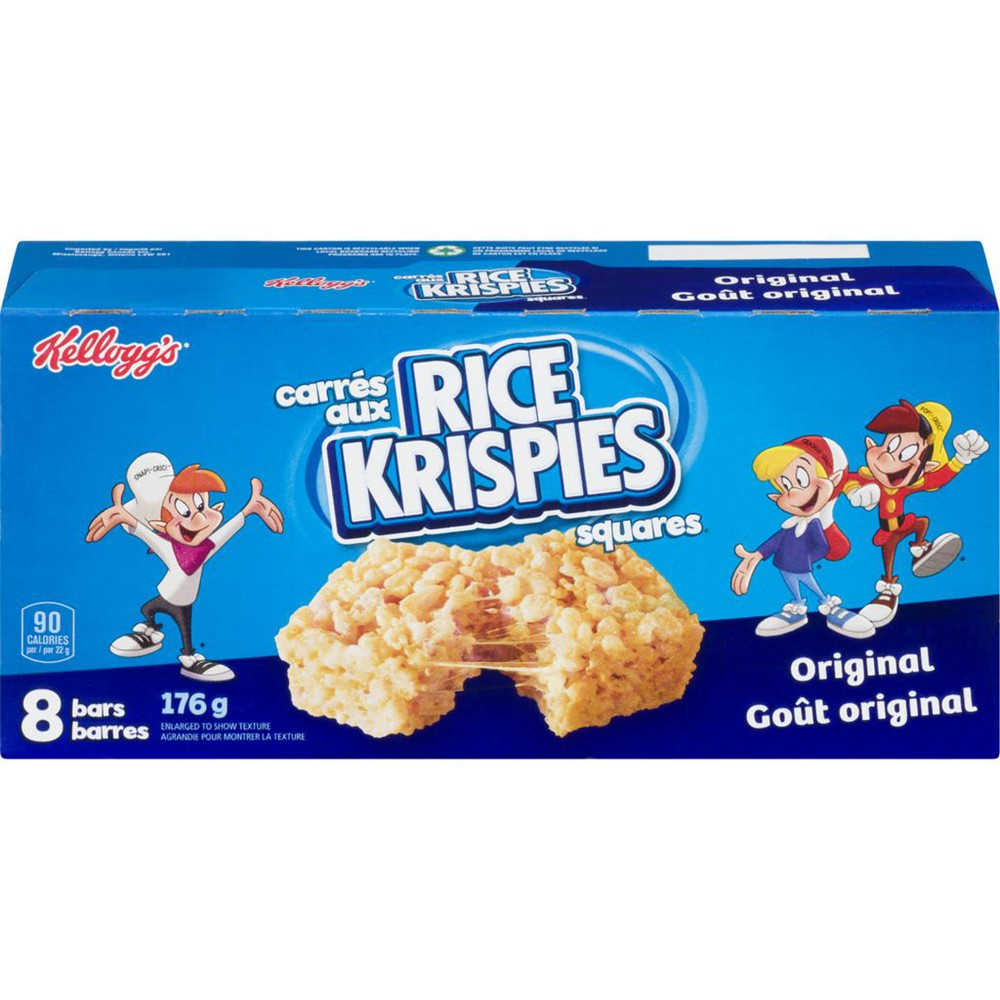Rice Krisipes Squares Bars, Original 8 bars