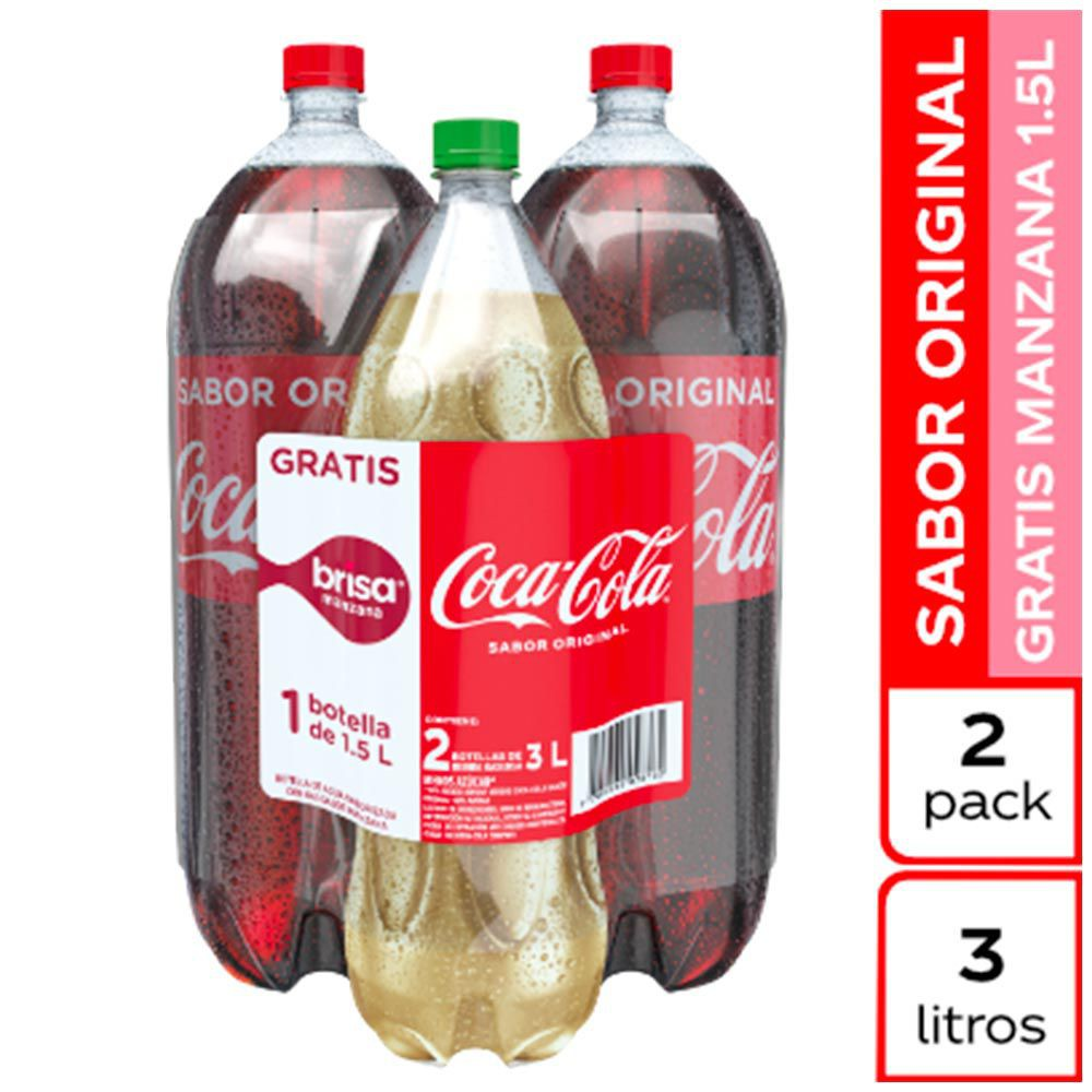 Gaseosa sabor original + agua manzana