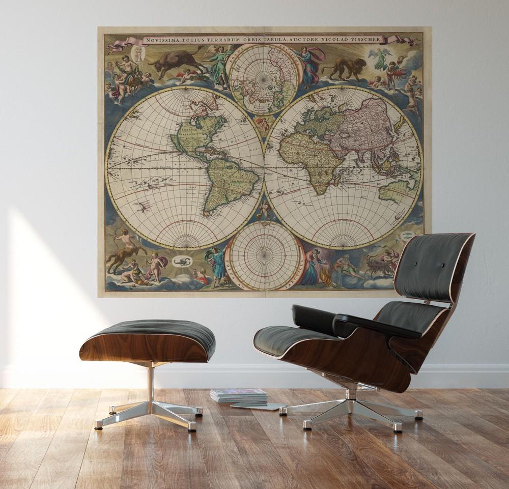 Papel mural mapa del mundo novissima