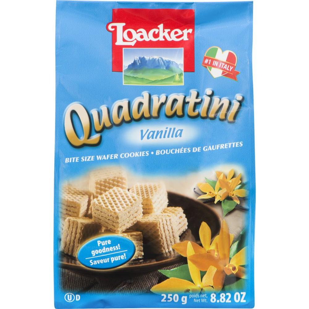 Quadratini vanilla wafer cookies