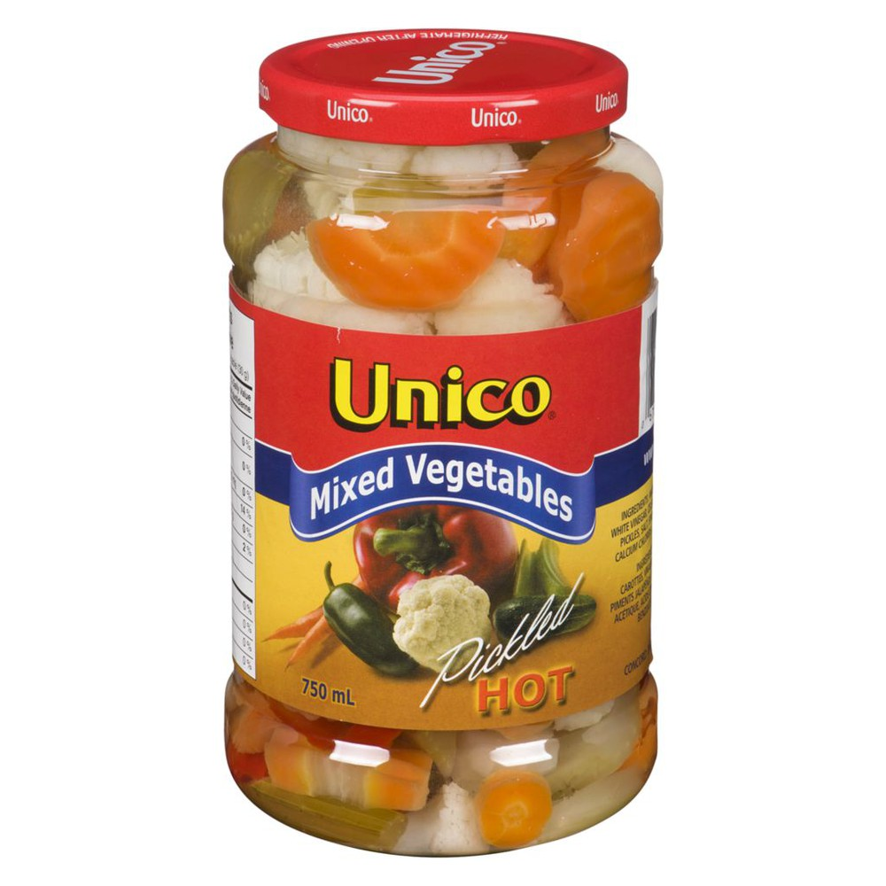 Mixed vegetables pickled hot 750 mL
