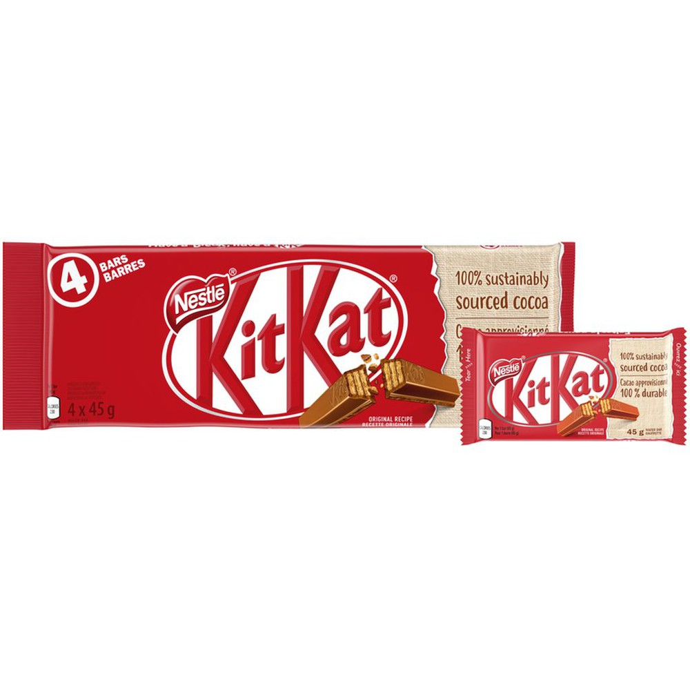 KITKAT Milk Chocolate Wafer Bars, 4-Pack