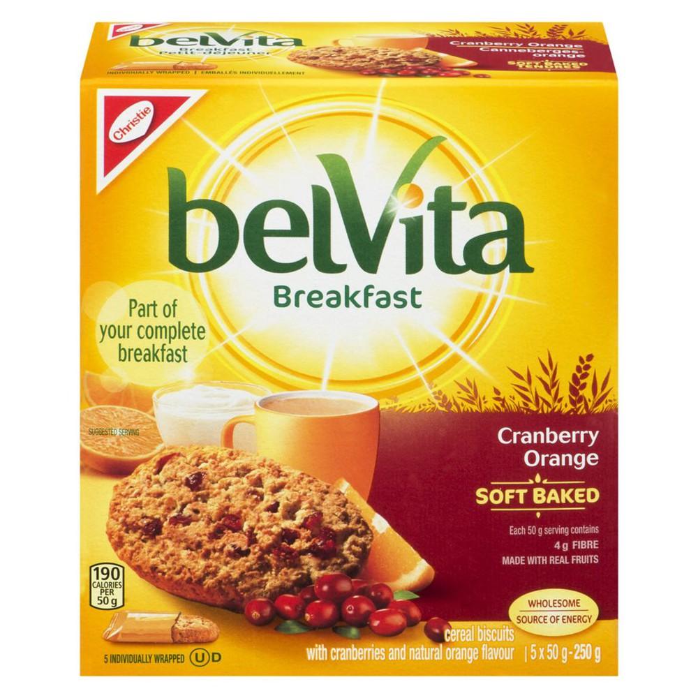 Belvita Soft Baked Breakfast Biscuits, Cranberry Orange