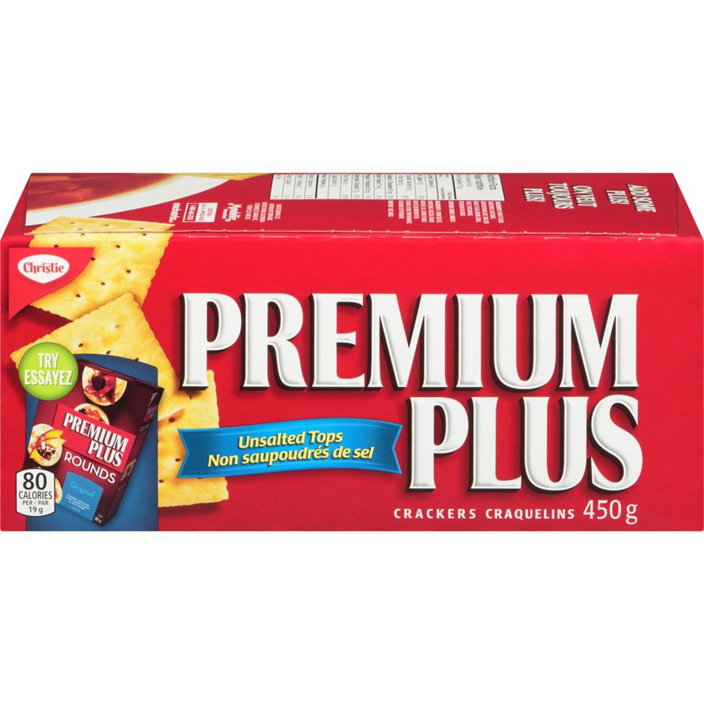 Premium Plus Christie Unsalted Crackers
