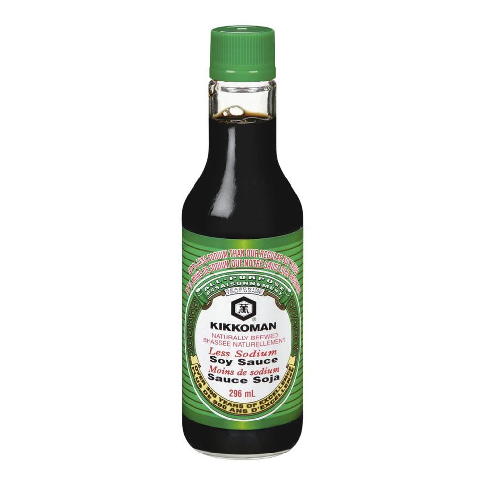 Less sodium soy sauce