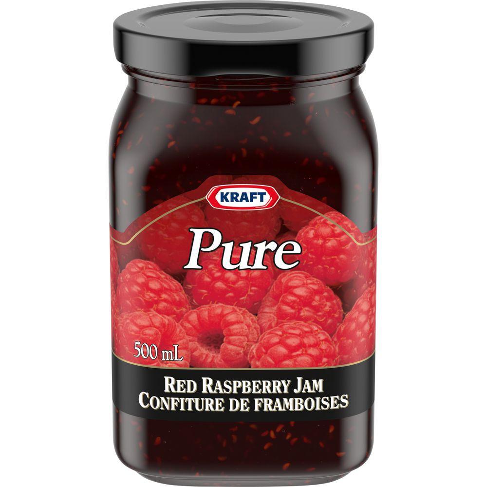 Pure jam, red raspberry