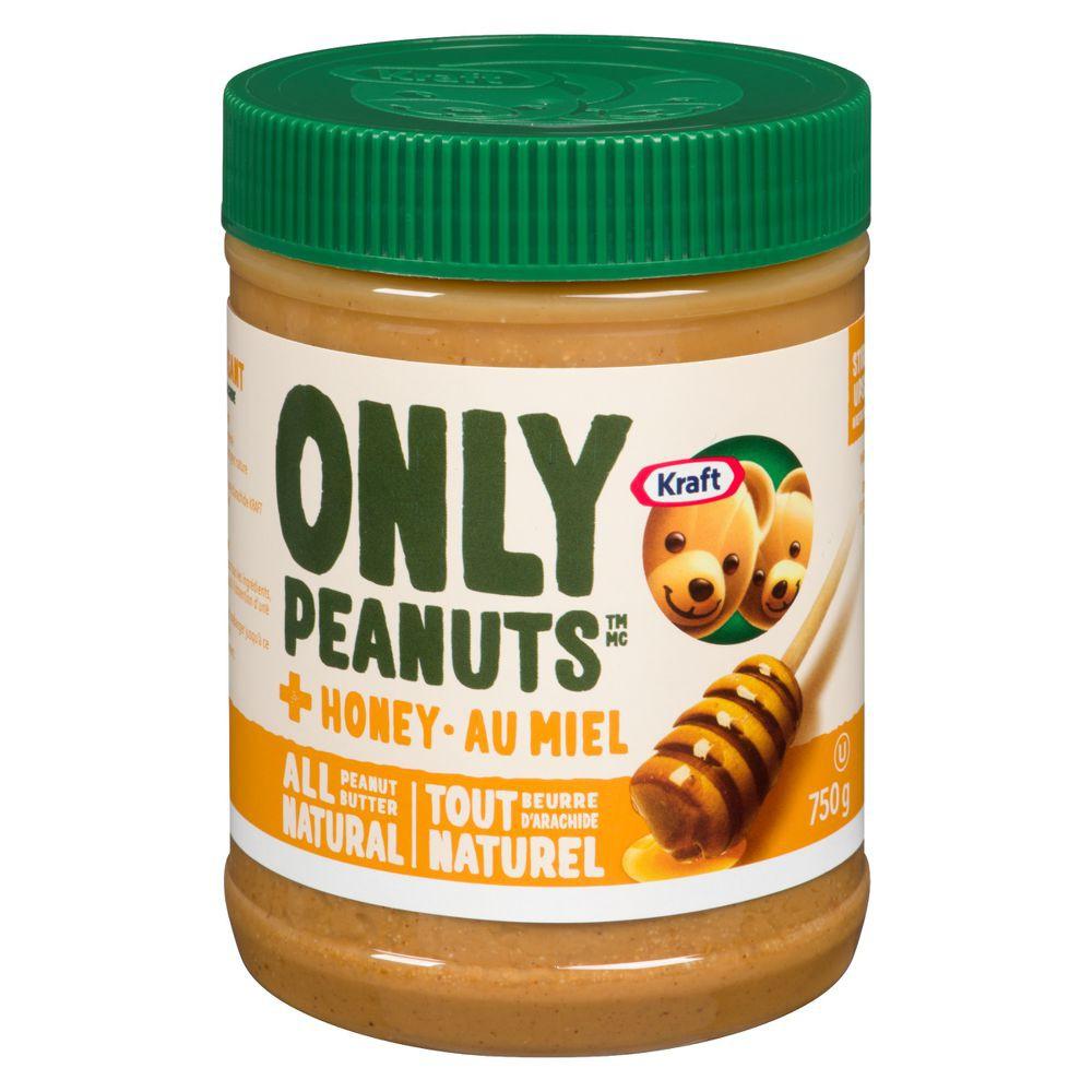 Peanut butter all natural, honey