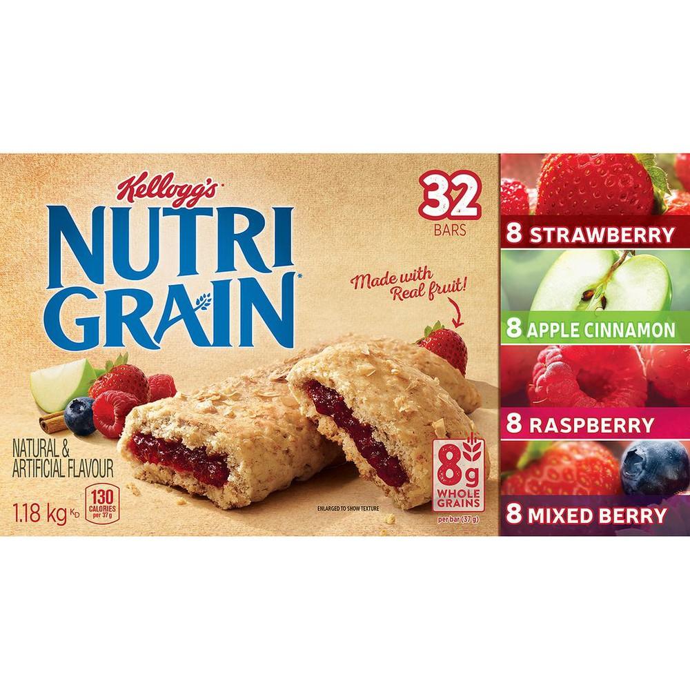 Nutri-Grain Cereal Bars, Variety Pack 32 bars