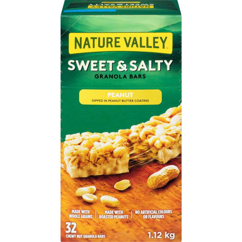 Sweet & salty chewy nut bars peanut