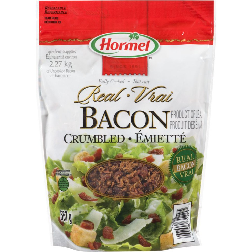 Bacon crumbled