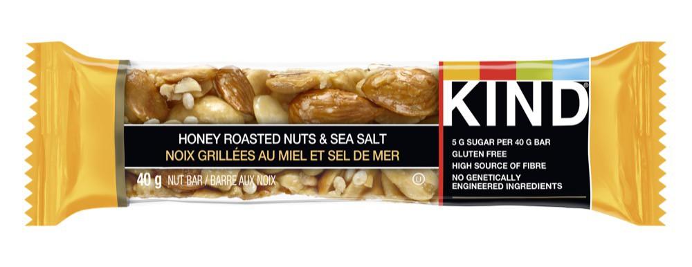 Grains bar honey roasted nuts & sea salt