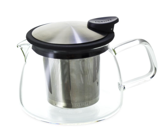 Bell glass teapot 14