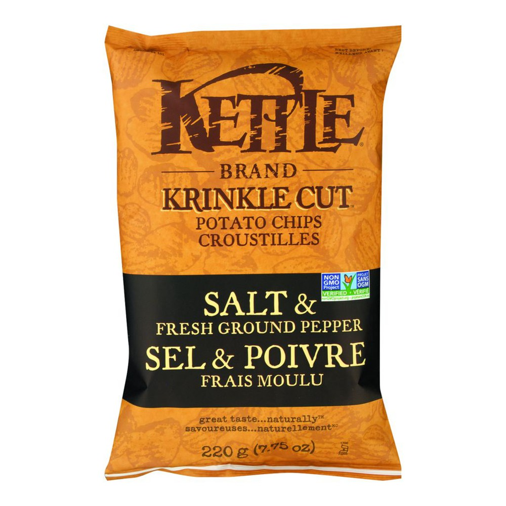 Krinkle Cut Potato Chips, Salt & Pepper
