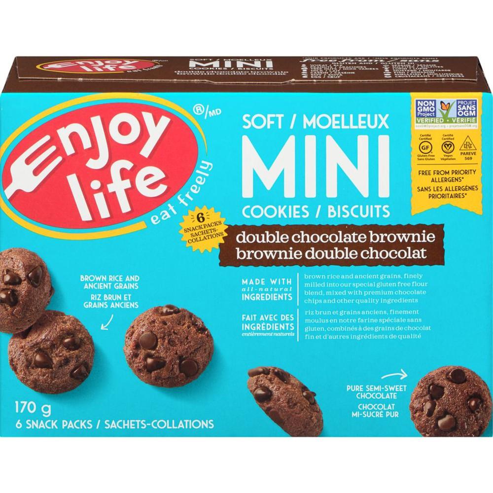 Double chocolate brownie mini cookies