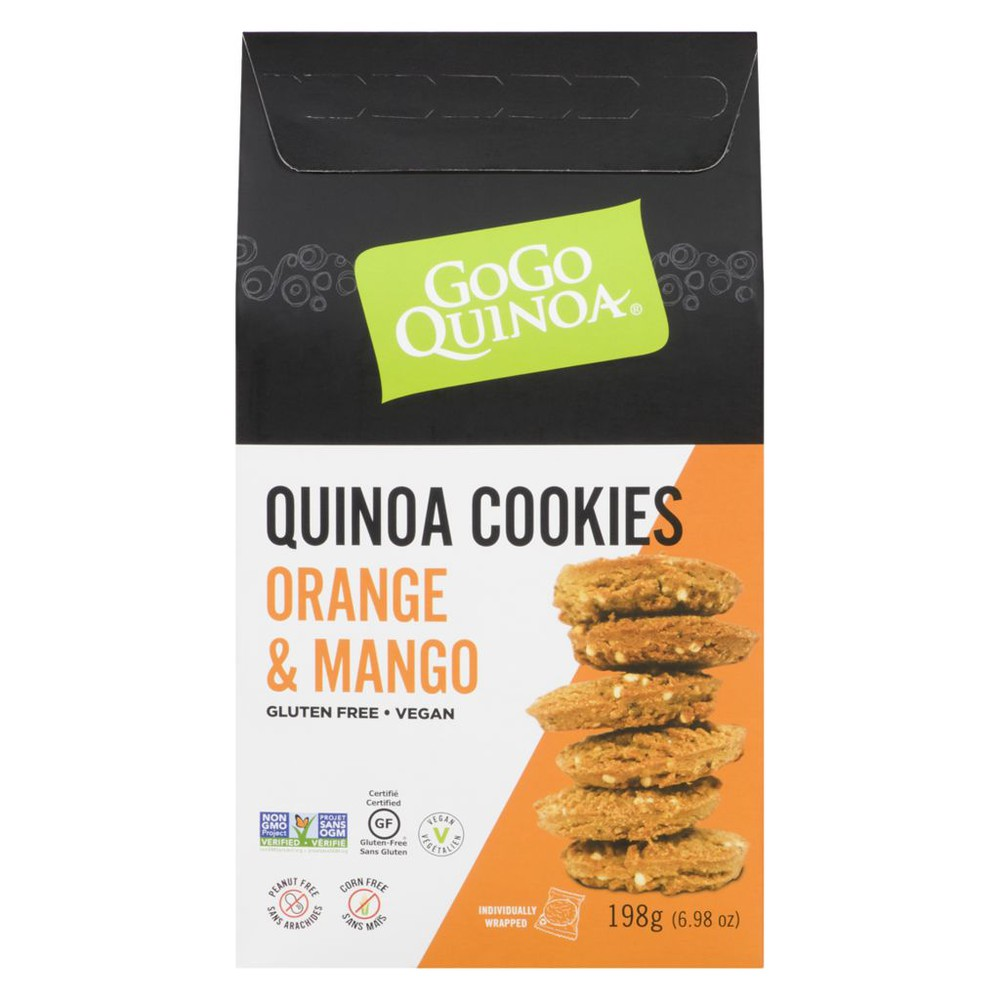 GoGo Quinoa Kaniwa Cookies Orange & Mango