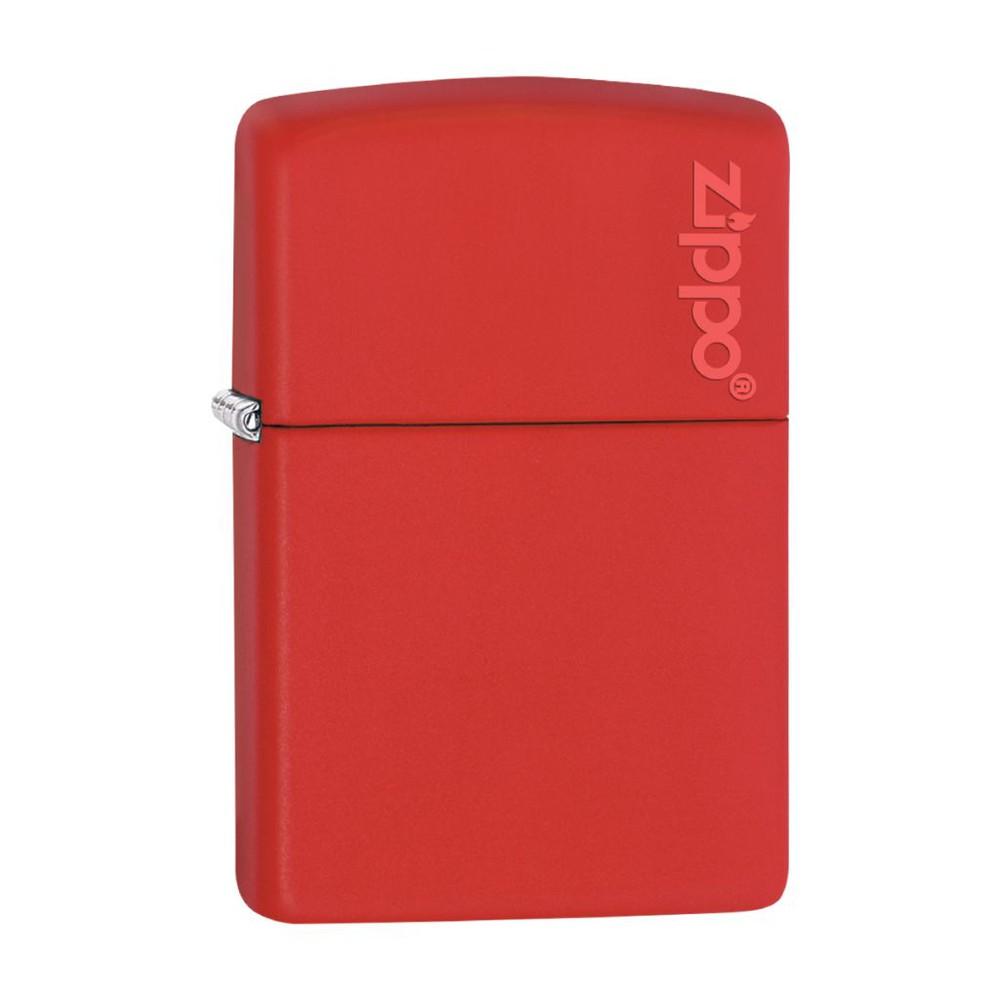 Encendedor zippo lighter red matte with logo rojo