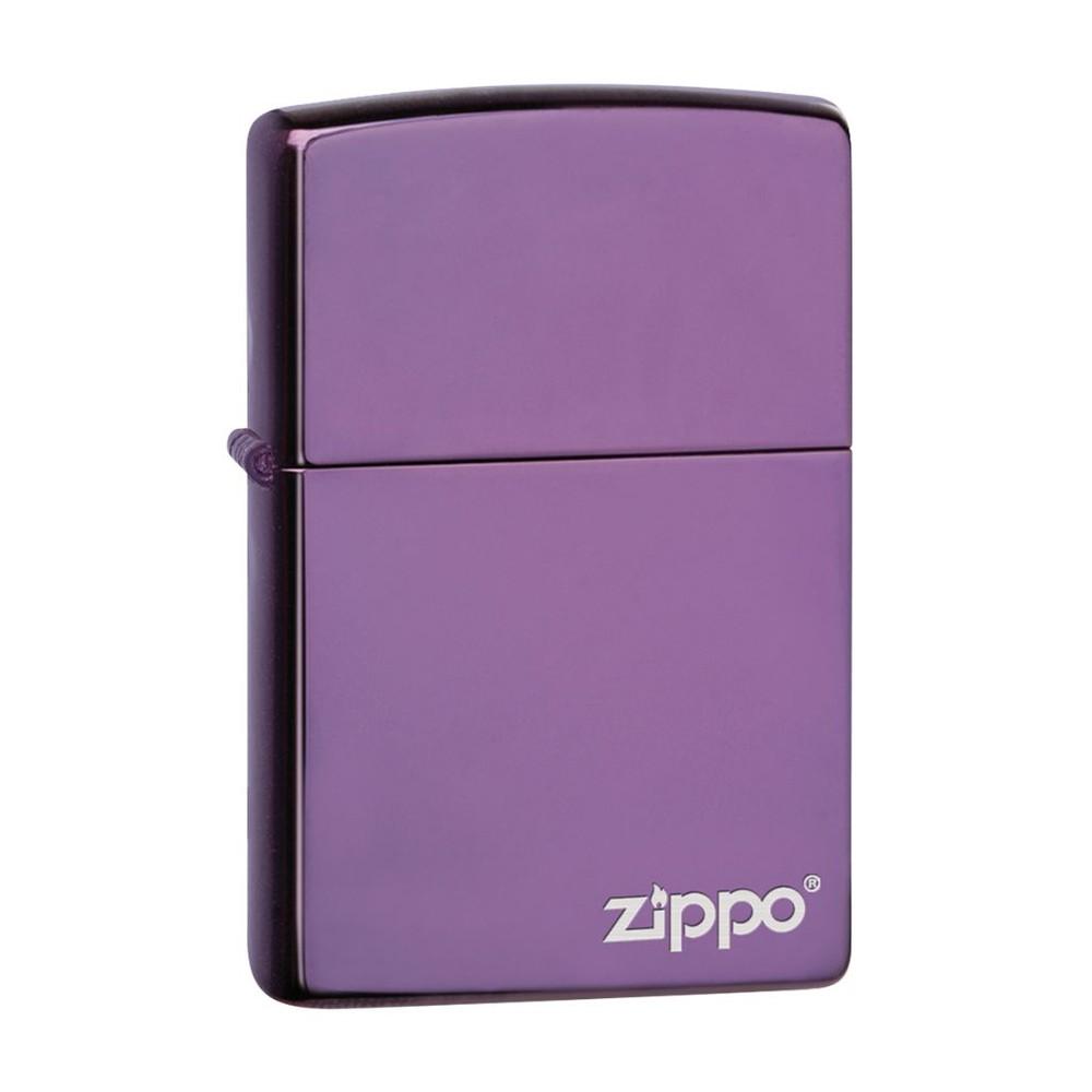 Encendedor zippo lighter classic high polish purple morado