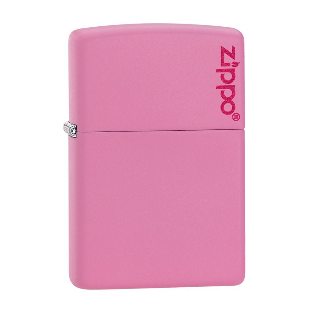 Encendedor zippo lighter classic pink matte logo rosa