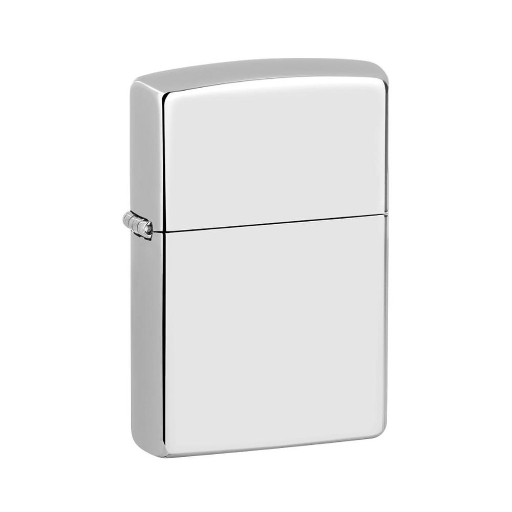 Encendedor zippo lighter high polish chrome plata
