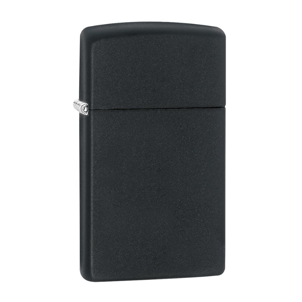 Encendedor zippo lighter slim black matte negro