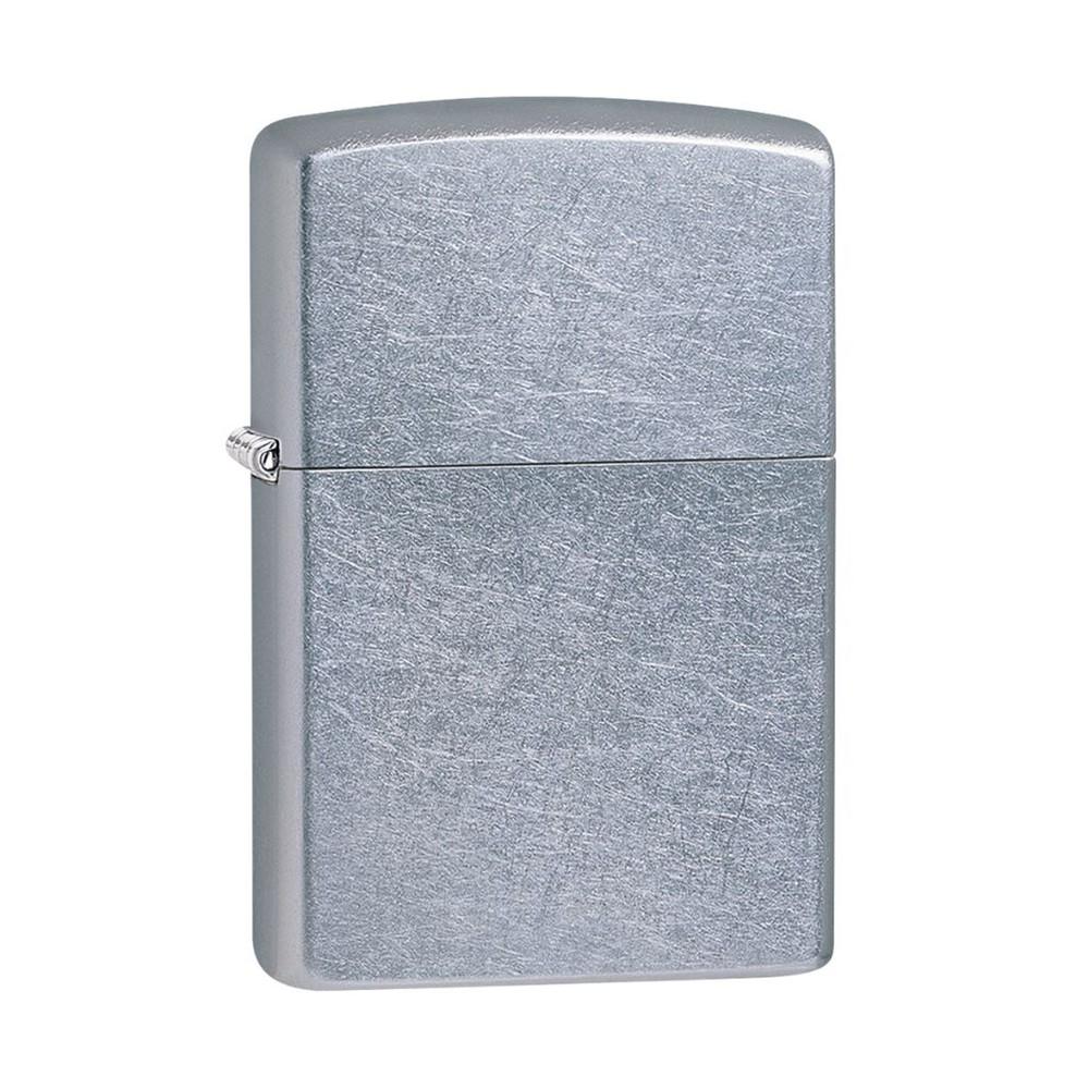 Encendedor zippo lighter street chrome plateado