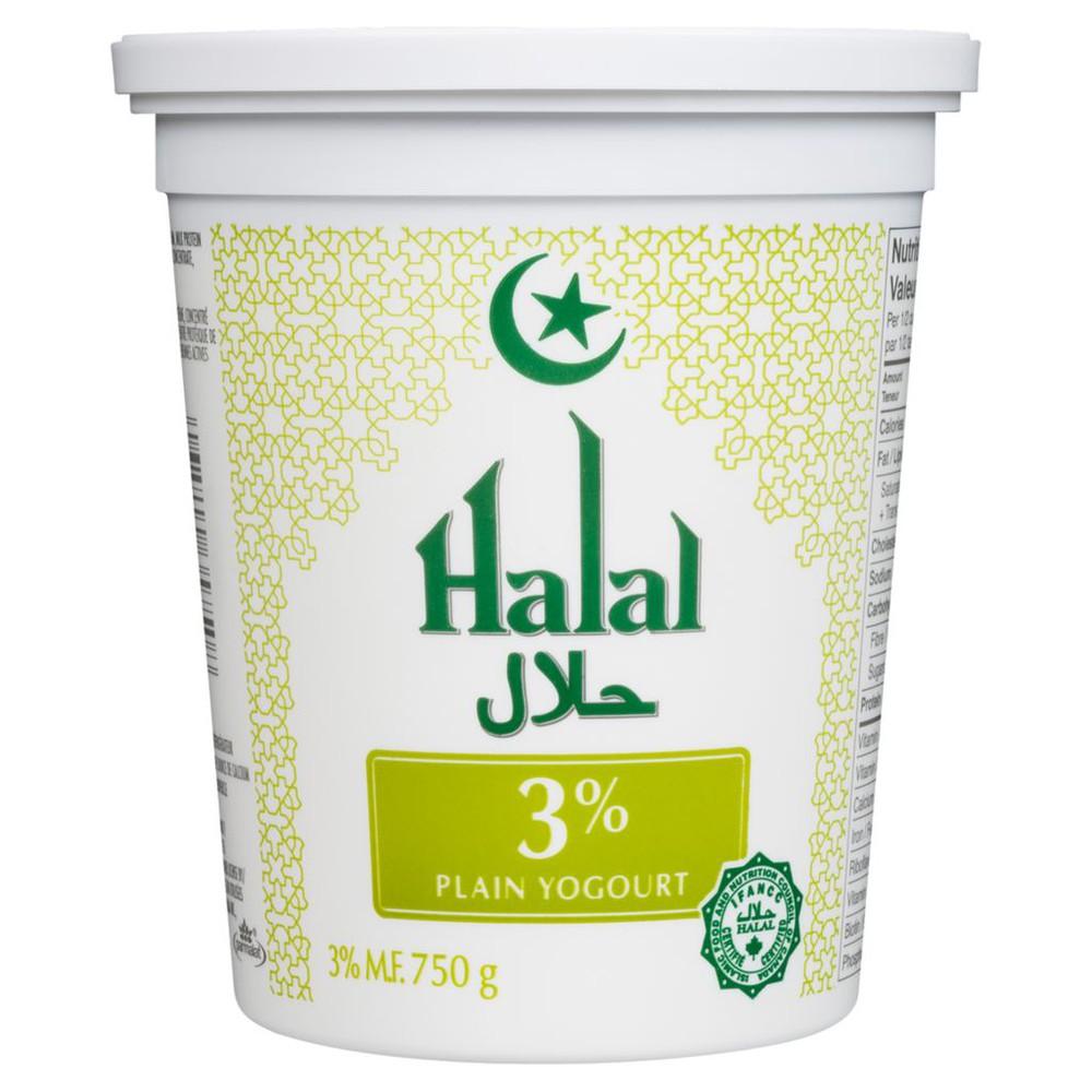 Halal Yogurt, Plain 3%